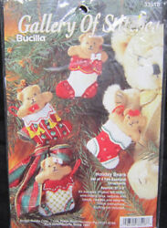 Bucilla Felt Applique Ornaments Kit 33518 Holiday Bears