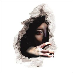 CREEPY SCARY GIRL IN WALL 3D Removable 22.5quot; x 14.5quot; Die cut Wall Decal #1499