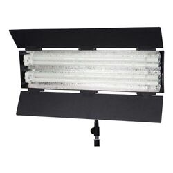 Flolight Fl-110hmd 2x55w Fluorescent Video Light With 5400k Free Lamps And Stand