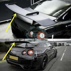 Carbon Fiber Rear Trunk Spoiler Boot Wings Fit For Nissan GTR R35 2008-2016