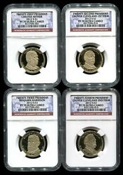 2012 S Presidential Dollar 4 Coin Proof Set Ngc Pf70 Ultra Cameo Rare