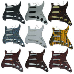 Kaish Loaded Strat Sss Prewired Pickguard For Fender Various Colors Available