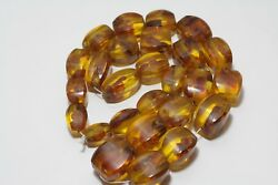 Vintage antique beads amber in bakelite. Very massive. 212 grams. Made in USSR