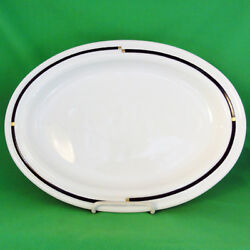 Nera Cupola By Rosenthal Platter 14.5 Long Made German Porcelain New Never Used