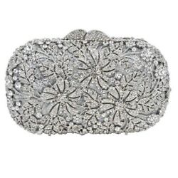 150 tcw round 925 sterling silver purse clutch statement cubic zirconia handmade