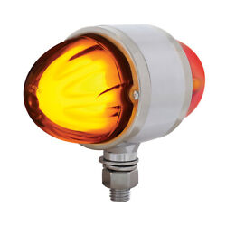 9 Led Dual Function Glo Double Face Light - Amber And Red Led/amber And Red Lens