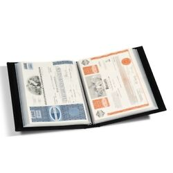 A4 Document Large Currency Certification Album 60 Pages Stock Bonds Presentation