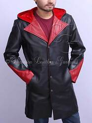 Devil May Cry 5 - Dante 100 Genuine Cowhide Leather Trench Coat / Jacket