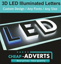 3d Led Letters 90cm. All Fonts And Shapes - Free Artwork.