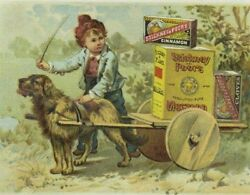 Stickney And Poor's Mustards Spices And Extracts Dog Pulling Cart Boy Big Boxes P92