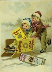 Stickney And Poor's Mustards Spices And Extracts Children Snow Sled Boxes Winter P92