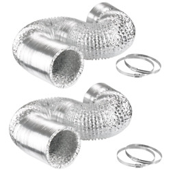 iPower 6 Inch 8 Feet Air Ducting Dryer Vent Hose for HVAC Ventilation 2 Pack 4
