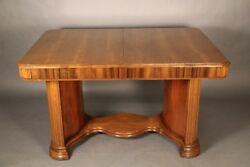 1930and039s Art Deco Table With One Leaf 10998