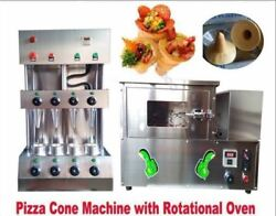 Commercial Pizza Cone Forming Making Machine Maker With Rotational Pizza Oven Ru
