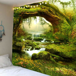Scenery Tapestry Wall Hanging Landscape Stream Tapestry for Wall Art Home Decor