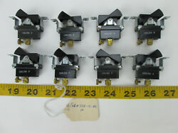 Lot Of 8 Carling Tech B Rocking Switches Black New Old Stock Free Shipping T