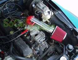 Red Long Air Intake Kit And Filter For 1997-2004 Jeep Cherokee Grand 4.0l I6