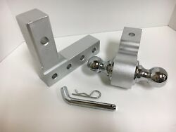 Aluminum Tow Hitch With Dual Ball 2 And 1 7/8 For Boat Trailer Light Rv