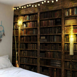 Retro Bookcase Tapestry Wall Hanging Vintage Book Tapestries for Home Room Decor
