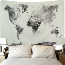 Hippie Tapestry World Map Wall Hanging Indian Bedspread Throw Room Decor US