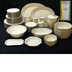 Lenox Charleston Dinnerware Set 12 Placement With Accessories 79 Pieces