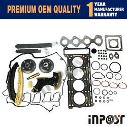 Cam Camshaft Sprocket Timing Chain Guide Rail Set For Mercedes W203 C230 W204