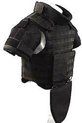 Black Size M Full Body Armor Plate Carrier Molle Vest 3a Kevlarr Included