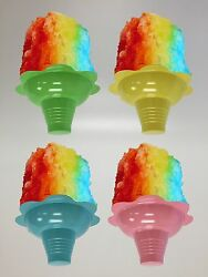 Shave Ice / Snow Cone Flower Cups 4 Ounce Small Case Of 1000 Free Shipping