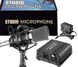 Condenser Mic Vocal Studio Recording Microphone For Podcast Streaming Broadcast