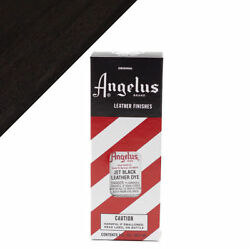 Angelus Jet Black Leather Dye 3 oz. with Applicator for Shoes Boots Bags NEW $7.49