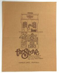 1970's Vintage Menu The Stove Country Cookin Restaurant Mammoth Lakes California