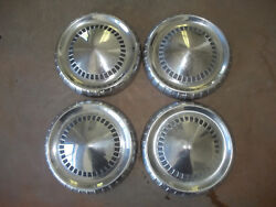 65 66 Ford Truck Dog Dish Hubcap Wheel Cover Center Hub Cap 9 1/2 Poverty Set