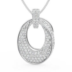 1.50ct Pave Set Round Diamonds Cluster Pendant Available In Platinum