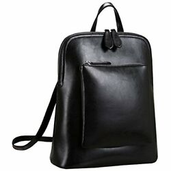 Heshe Womens Vintage Leather Backpack Casual Daypack For Ladies And Girls