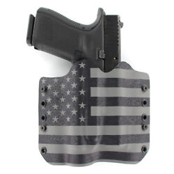 Owb Kydex Holster With Tlr-1 Attachment - Rmr Compatible - Usa Gunmetal Gray