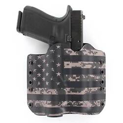 Owb Kydex Holster With Tlr-1 Attachment - Rmr Compatible - Usa Digital Gray