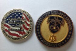 Rare Us Medal Awarded To Nepalese Solder Working In Afghanistan.