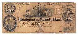 18xx The Montgomery County Bank, Johnstown, Ny - 10 Remainder Note - Rare