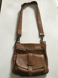 Roots Canada Brown Crossbody Leather Bag