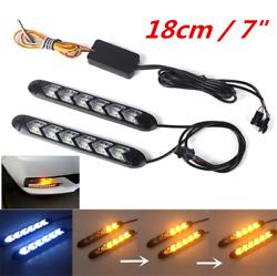 7inch LED Car WhiteAmber Indicator Driving Light Sequential Flowing Turn Signal