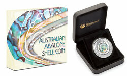 2014 Australian Abalone Shell 1oz Silver Proof Coin Perth Mint With Box And Coa