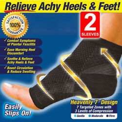 Foot Anti-Fatigue Compression Socks Ankle Support Sleeve Circulation Relief Pain $6.99