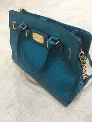 Michael Kors Blue Embossed Leather new without tag