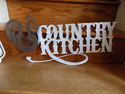 Country Kitchen metal sign farm vintage Chicken Rooster