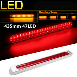 Sequential LED Trcuk Trailer Red+Amber Brake Tail Driving Light Turn Indicator