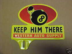 1940and039s World War 2 Time License Plate Topper Hitler Western Auto Wwii