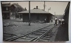 Robertsdale, Pa East Broad Top Railroad Train Station 1951 Contact Photo