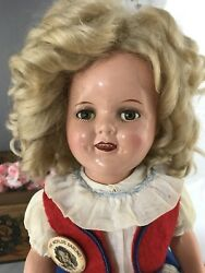 """16"""" Composition Ideal Shirley Temple Make Up Doll"""