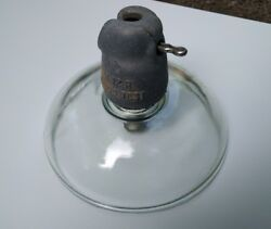 10 Antique Clear Glass Insulator 10andrdquo Large Industrial High Voltage Suspension