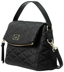 Kate Spade Wilson Road Quilted Miri Black Nylon Cross Body Bag Women's Handbag
